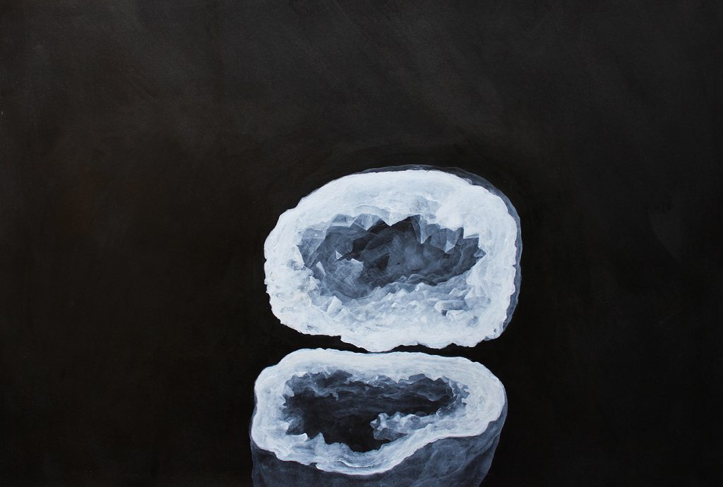 """Geode""  2017 china e acrilico su carta cm 56x38"