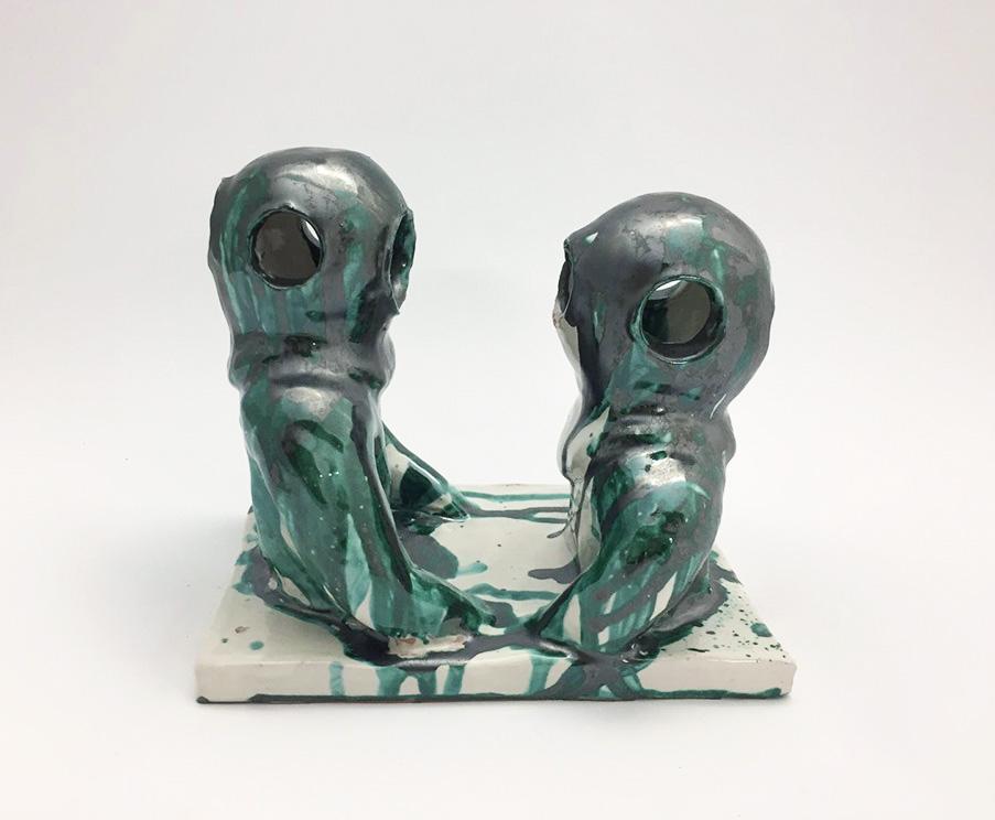 """""""I Palombari"""" 2017 ceramica cm 25x15x20"""