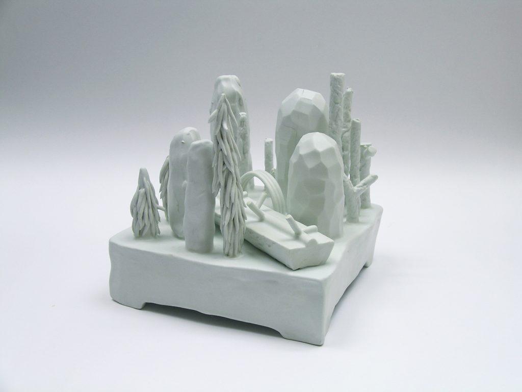 "Luca Caimmi ""Clima opposto"" 2012 ceramica 20x20x18cm"