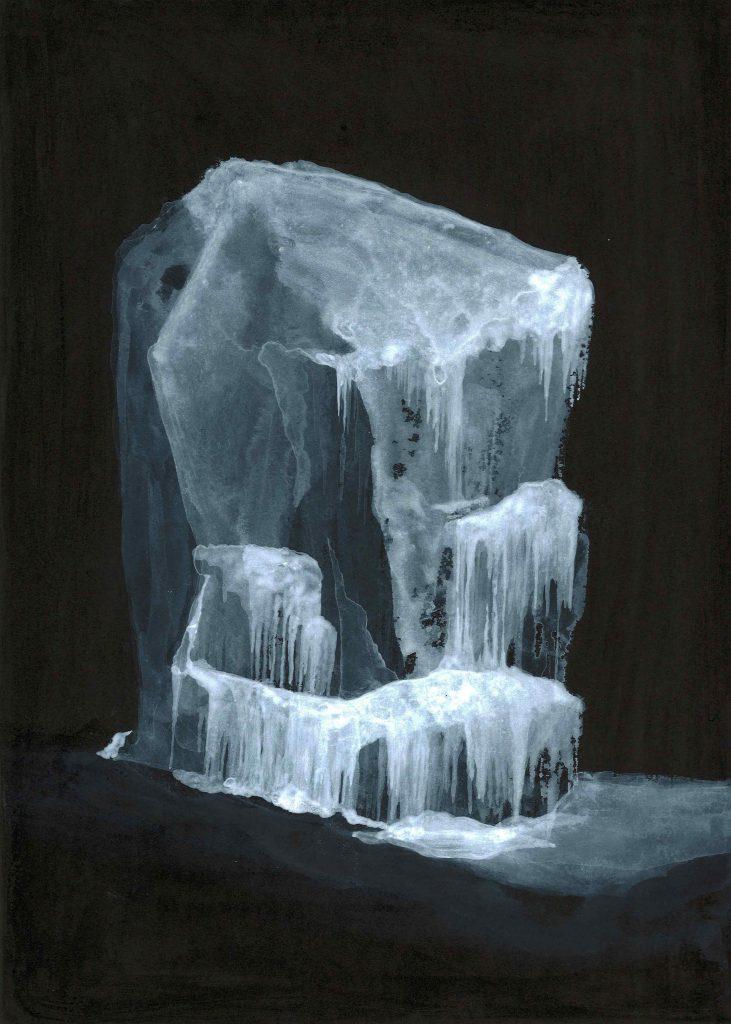 Senza titolo ( disgelo ) china e acrilico su carta cm  35x25