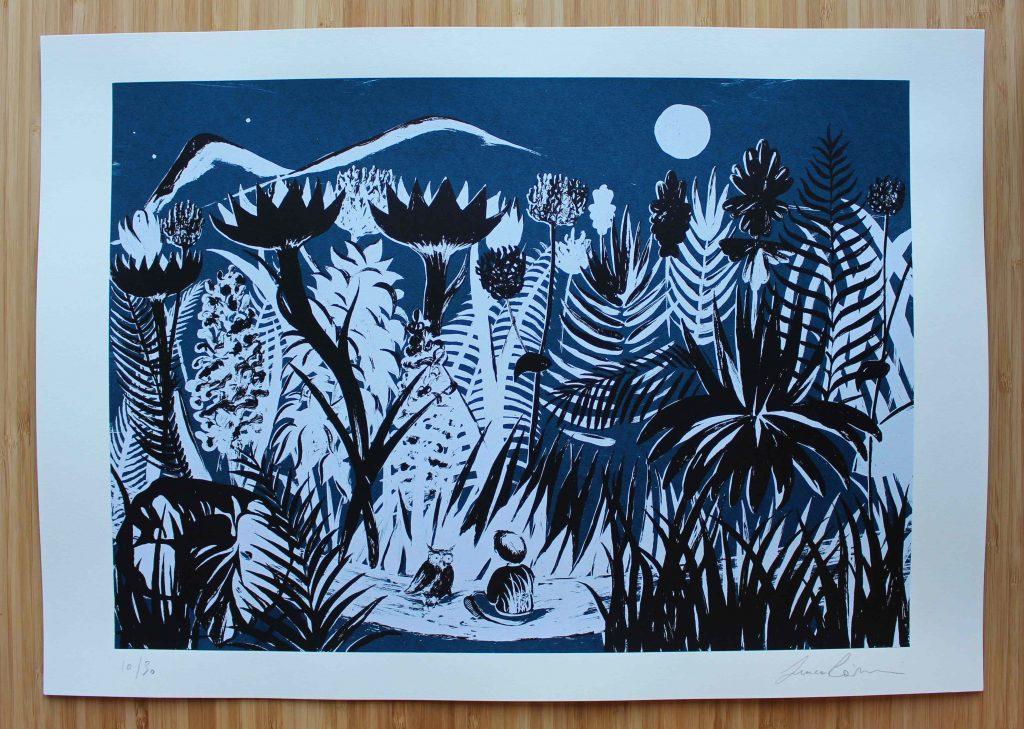Incontro notturno Serigrafia firmata e numerata  Misura carta cm 35x50 €50